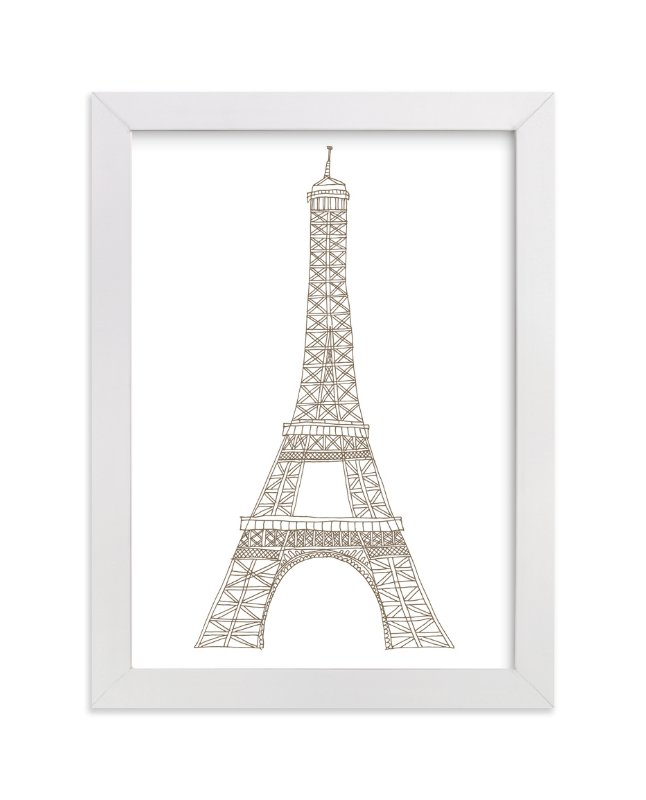 """""""Eiffel Tower in Pen"""" - Art Print by Sharon Rowan in beautiful frame options and a variety of sizes."""