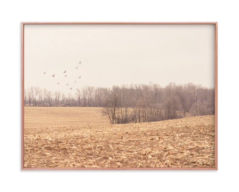 """""""Almost Winter"""" - Art Print by Kamala Nahas in beautiful frame options and a variety of sizes."""
