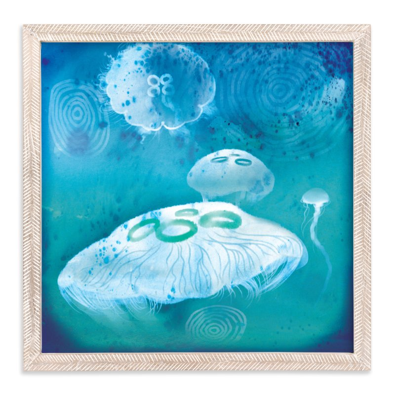 """Sea Jellies"" - Art Print by Tracy Ann in beautiful frame options and a variety of sizes."