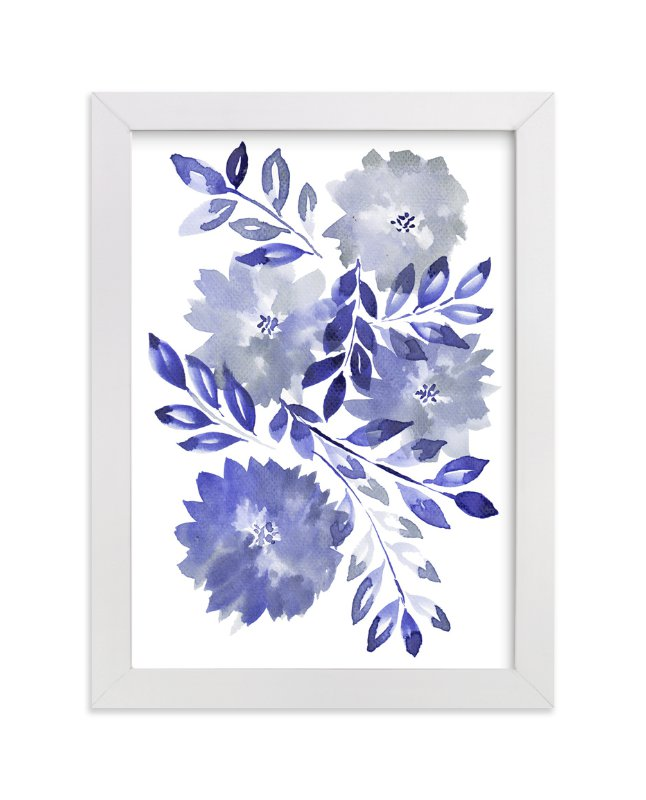 """hand painted flowers_1G"" - Art Print by aticnomar in beautiful frame options and a variety of sizes."