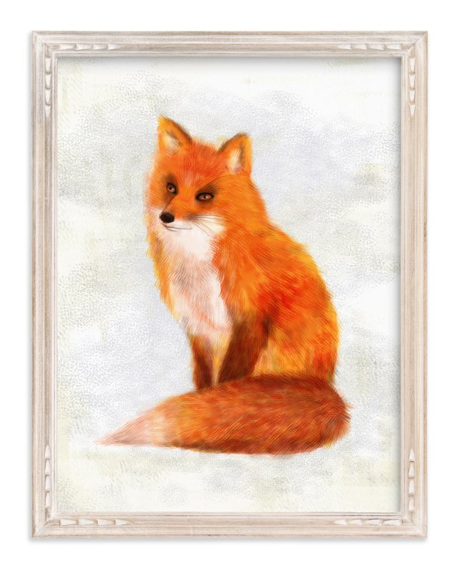 """Mr. Fox"" - Art Print by iamtanya in beautiful frame options and a variety of sizes."