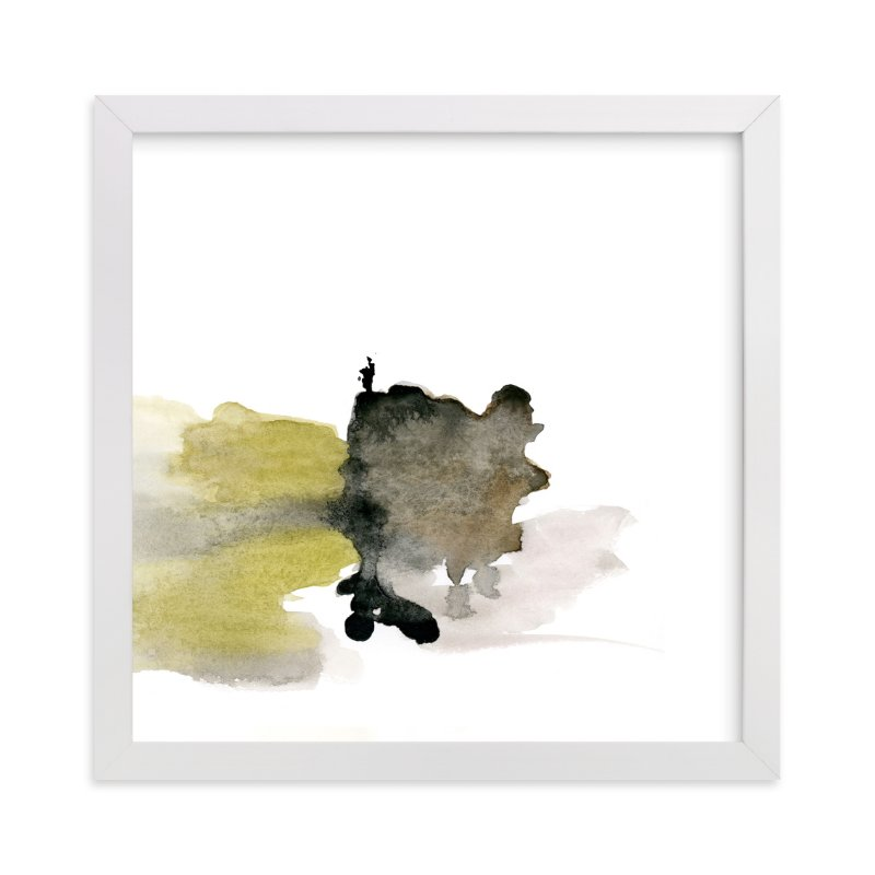 """""""White Space 4"""" - Art Print by Mande in beautiful frame options and a variety of sizes."""