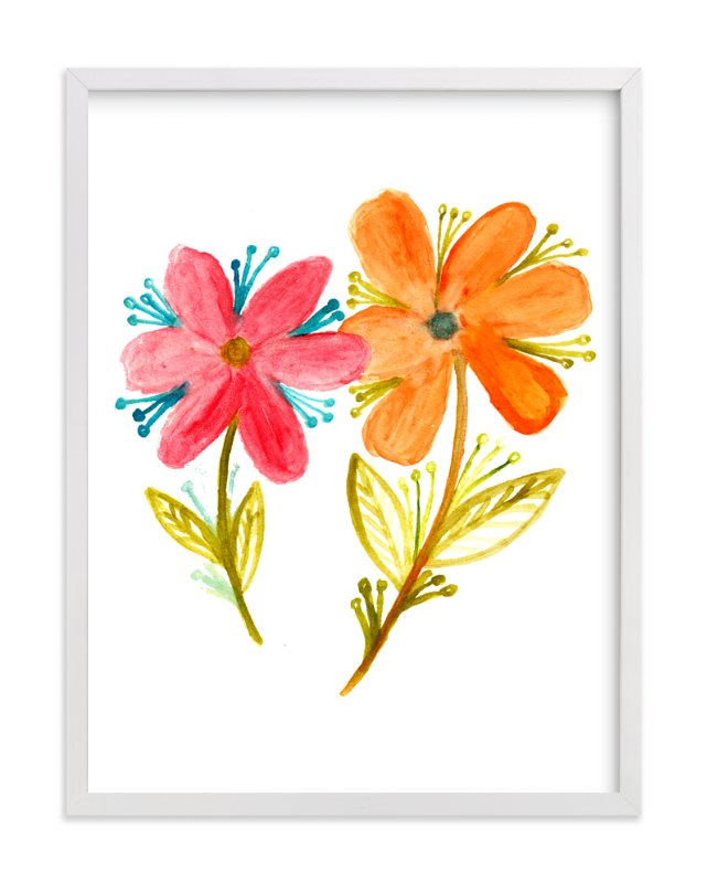 """""""watercolor painting flowers"""" - Art Print by aticnomar in beautiful frame options and a variety of sizes."""