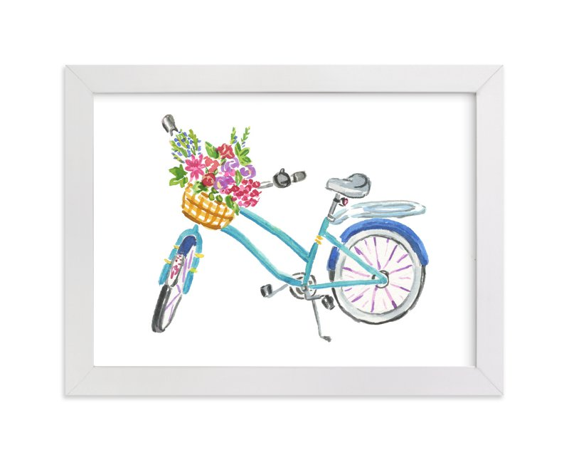 """""""Rose Farm Bicycle"""" - Art Print by Jessica June Avrutin in beautiful frame options and a variety of sizes."""