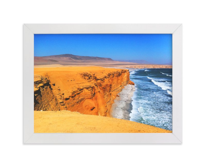 """""""Playa Roja"""" - Art Print by Belia Simm in beautiful frame options and a variety of sizes."""