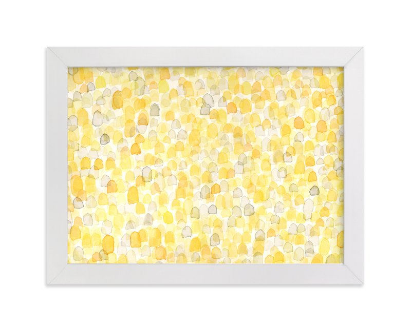 """Abstract Amber Field"" - Art Print by Pamela Steiner in beautiful frame options and a variety of sizes."