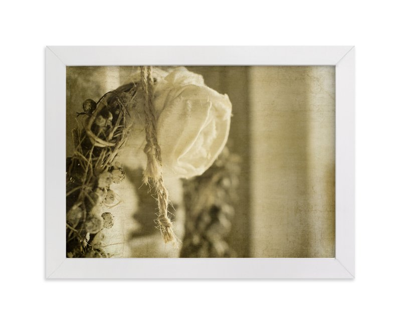 """Vintage Rose Wreath"" - Art Print by Heather Squance in beautiful frame options and a variety of sizes."