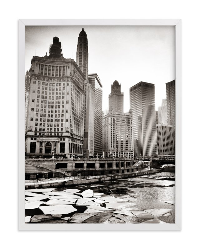 """""""Chicago Winter"""" - Art Print by LemonBirch Design in beautiful frame options and a variety of sizes."""