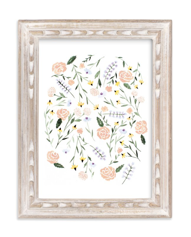 """""""Wildflowers of North Dakota"""" - Art Print by Whitney Todd in beautiful frame options and a variety of sizes."""