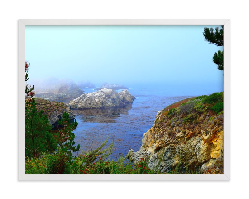 """""""Land welcomes the ocean"""" - Art Print by NSMARK in beautiful frame options and a variety of sizes."""