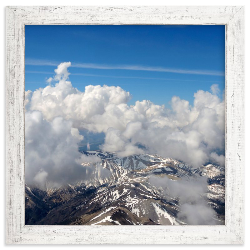 """""""Clouds and Snow 1"""" - Art Print by Jeff Vilkin in beautiful frame options and a variety of sizes."""