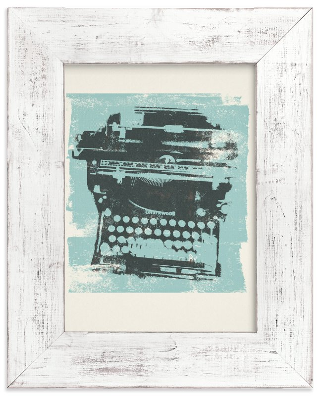"""""""Funky Type"""" - Art Print by Anne Crosse in beautiful frame options and a variety of sizes."""