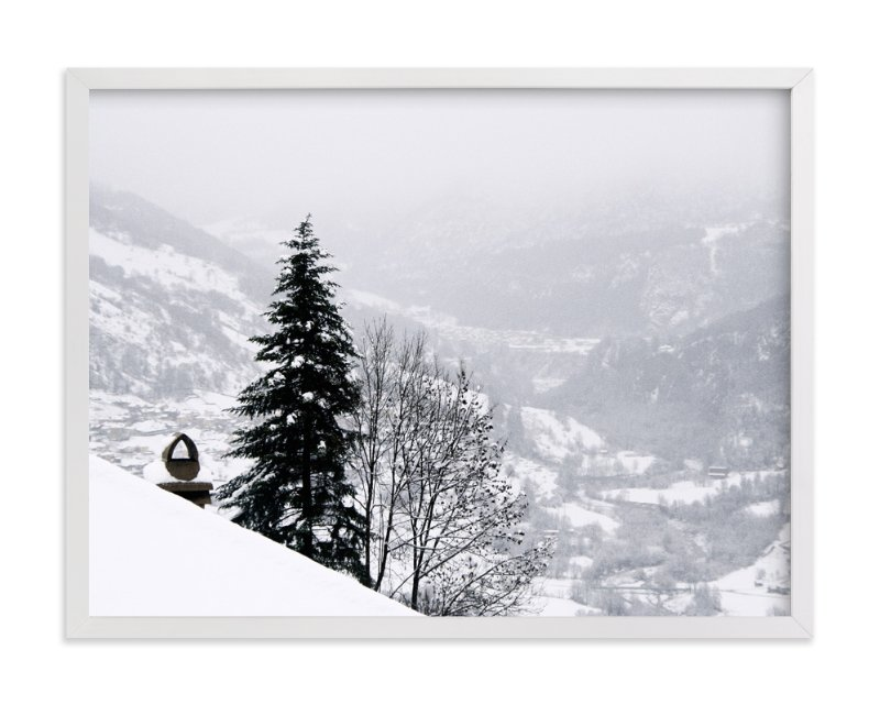 """""""winter in monochrome"""" - Art Print by lulu and isabelle in beautiful frame options and a variety of sizes."""