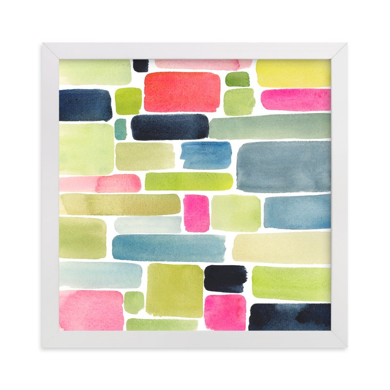 """""""Color Movement I"""" - Art Print by Yao Cheng Design in beautiful frame options and a variety of sizes."""