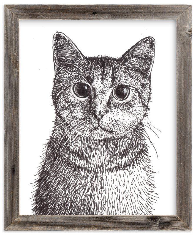 """""""Kitten"""" - Art Print by XL in beautiful frame options and a variety of sizes."""