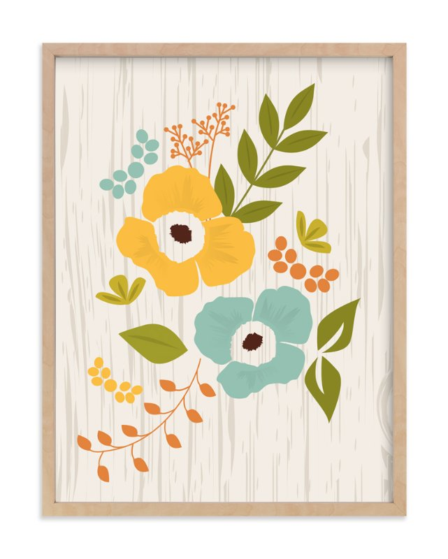 """Woodland Wallflowers"" - Art Print by Bethany Anderson in beautiful frame options and a variety of sizes."