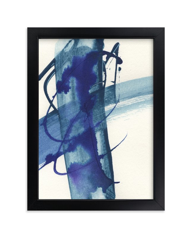 """""""Modern Blue One"""" - Art Print by Misty Hughes in beautiful frame options and a variety of sizes."""
