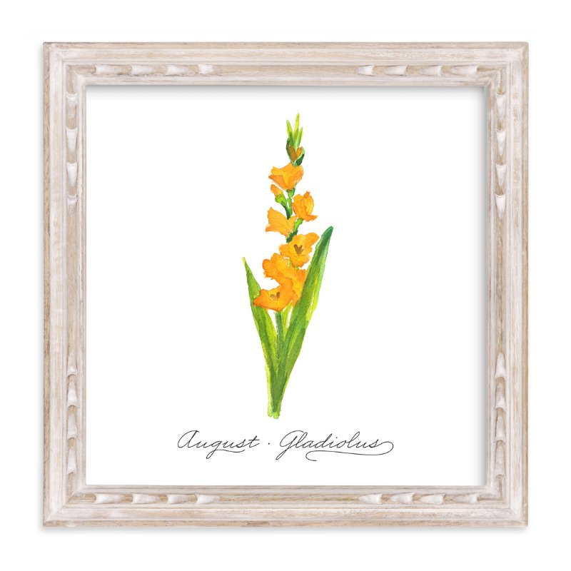 """""""August Gladiolus"""" - Art Print by Liz Conley in beautiful frame options and a variety of sizes."""