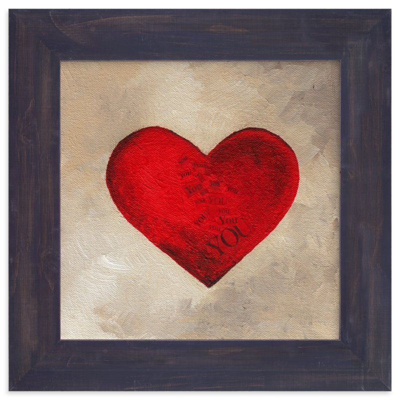 """""""Love Began With You"""" - Art Print by Monique Soranno in beautiful frame options and a variety of sizes."""
