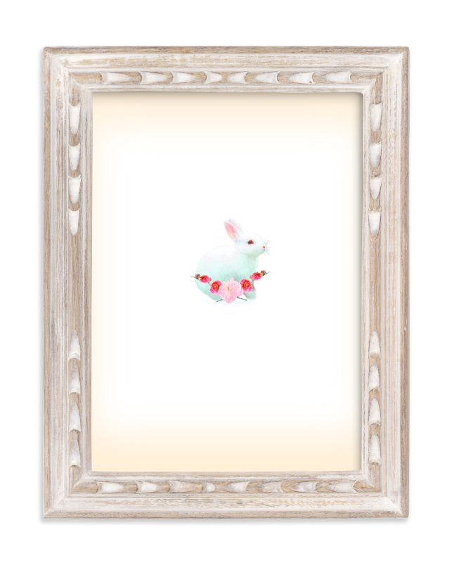"""Baby Bunny Rabbit"" - Art Print by hadley hutton in beautiful frame options and a variety of sizes."