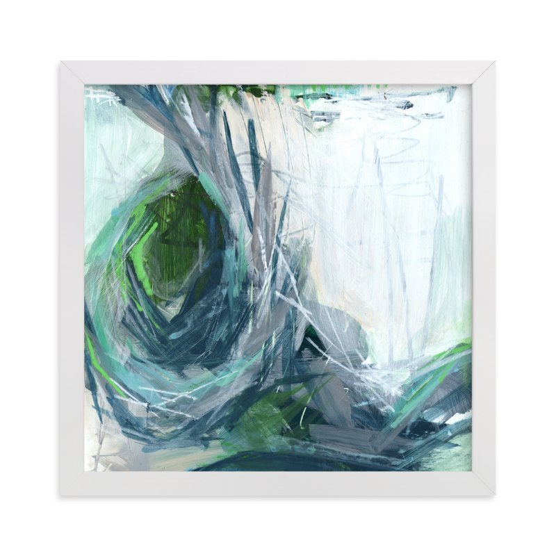 """Resounding Crash"" - Art Print by Jennifer Daily in beautiful frame options and a variety of sizes."