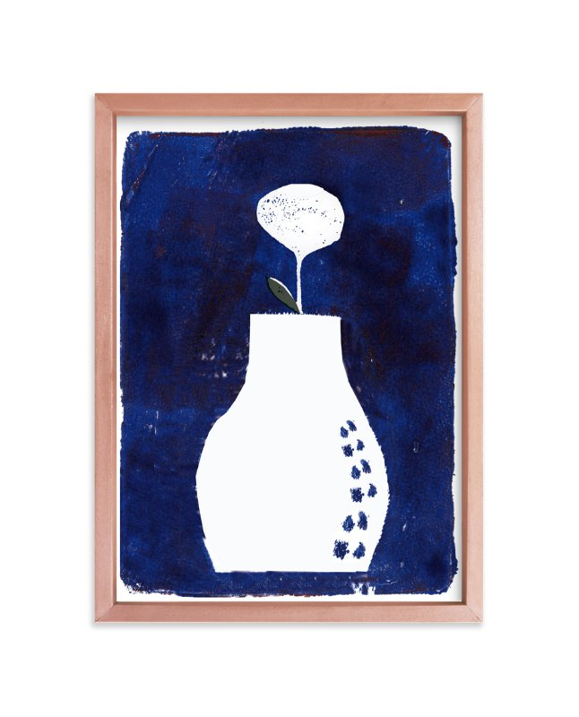 """Sometimes it is blue3 "" - Art Print by Bethania Lima in beautiful frame options and a variety of sizes."
