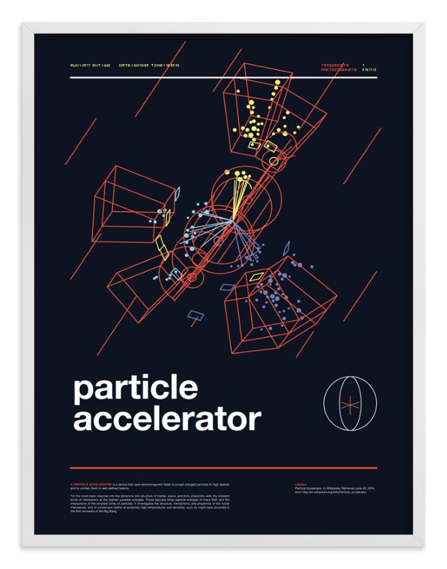 """""""Particle Accelerator"""" - Art Print by Tyler Tea in beautiful frame options and a variety of sizes."""