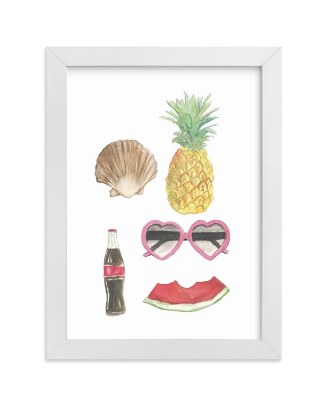 """Summertime"" - Art Print by Danielle Elizabeth in beautiful frame options and a variety of sizes."