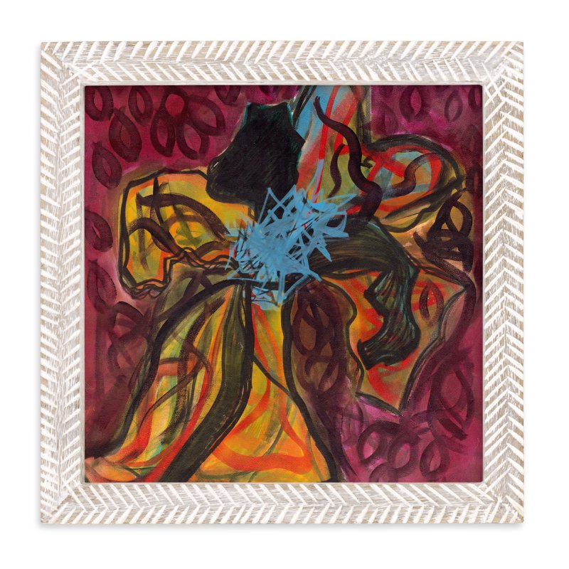 """""""Contemporary Flower"""" - Art Print by Angela Simeone in beautiful frame options and a variety of sizes."""