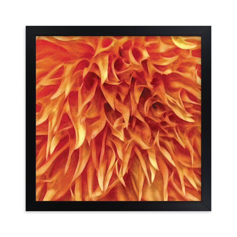 """""""Dahlia Shag Look"""" - Art Print by Mazing Designs in beautiful frame options and a variety of sizes."""