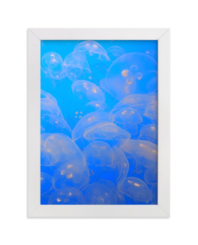 """""""Moon Jellies 2"""" - Art Print by Jan Kessel in beautiful frame options and a variety of sizes."""