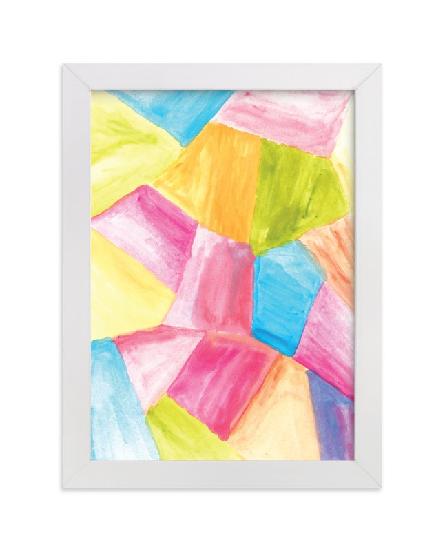 """""""rectangular shape watercolor"""" - Art Print by aticnomar in beautiful frame options and a variety of sizes."""