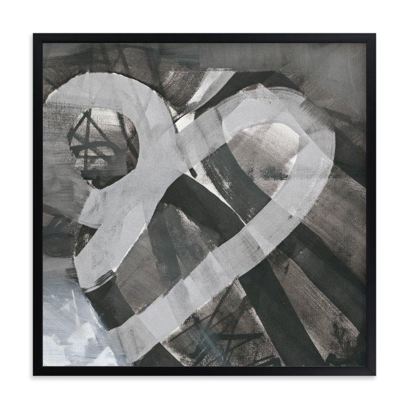 """""""White and Black Vapor Two  Series 1"""" - Art Print by Angela Simeone in beautiful frame options and a variety of sizes."""