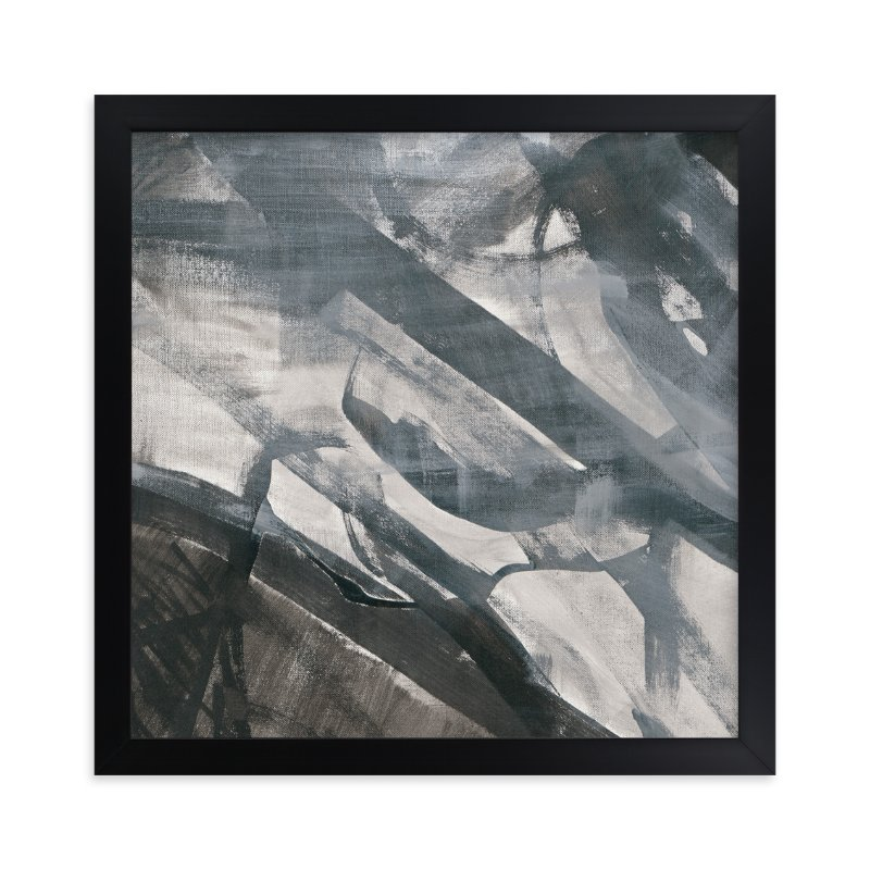 """White and Black Vapor 2 Series 3"" - Art Print by Angela Simeone in beautiful frame options and a variety of sizes."