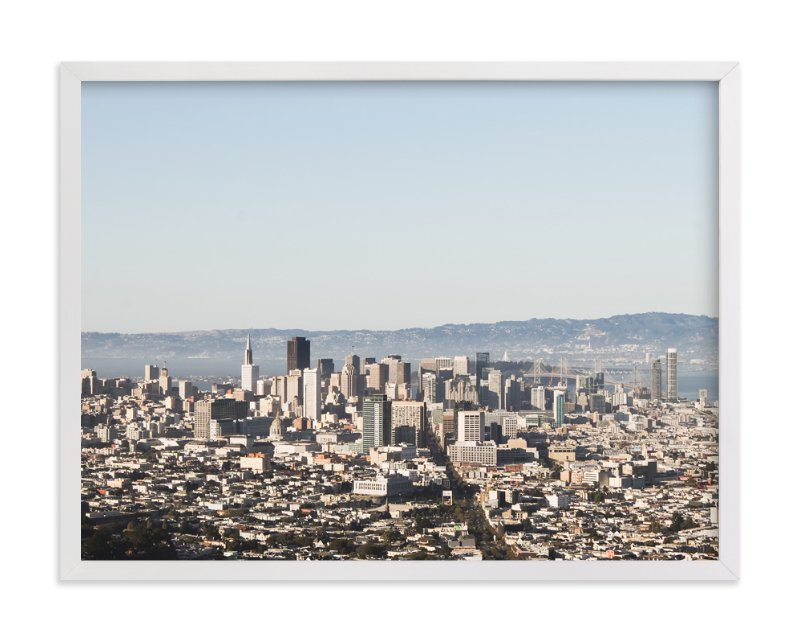 """""""Downtown San Francisco"""" - Art Print by Annie Montgomery in beautiful frame options and a variety of sizes."""