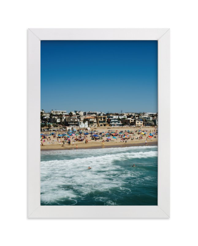"""Beach II"" - Art Print by Jennifer Little in beautiful frame options and a variety of sizes."