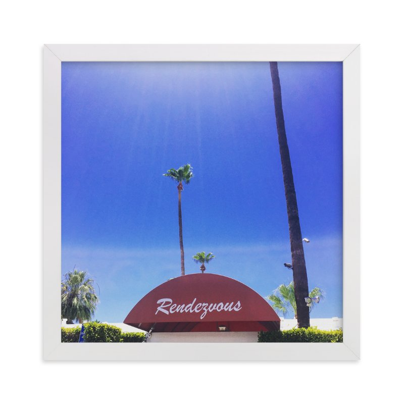 """""""Rendezvous in Palm Springs """" - Art Print by TweetSweet in beautiful frame options and a variety of sizes."""