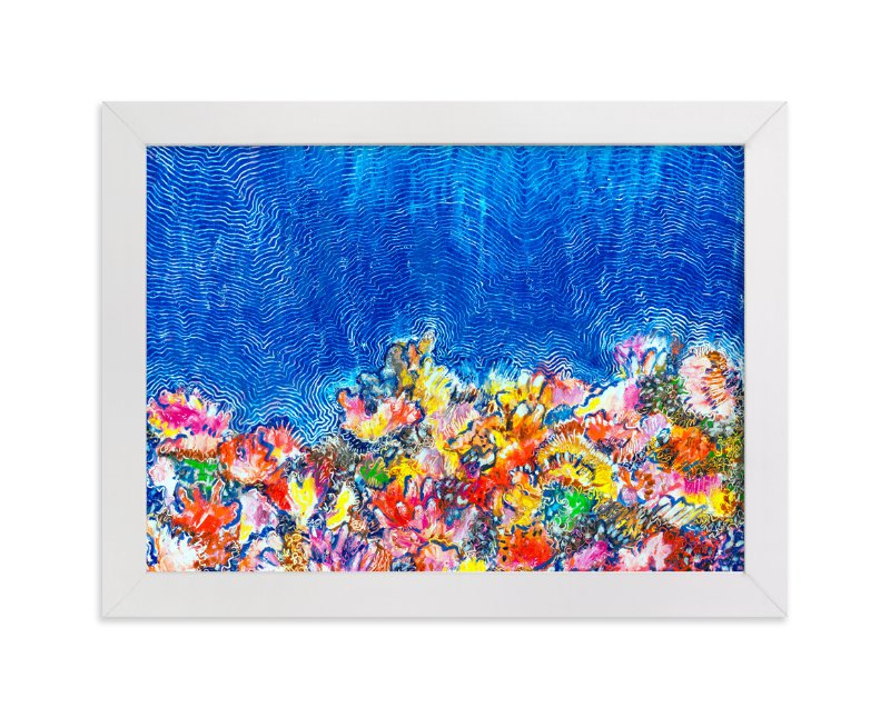 """Tropical Coral Reef"" - Art Print by Pooja Pittie in beautiful frame options and a variety of sizes."