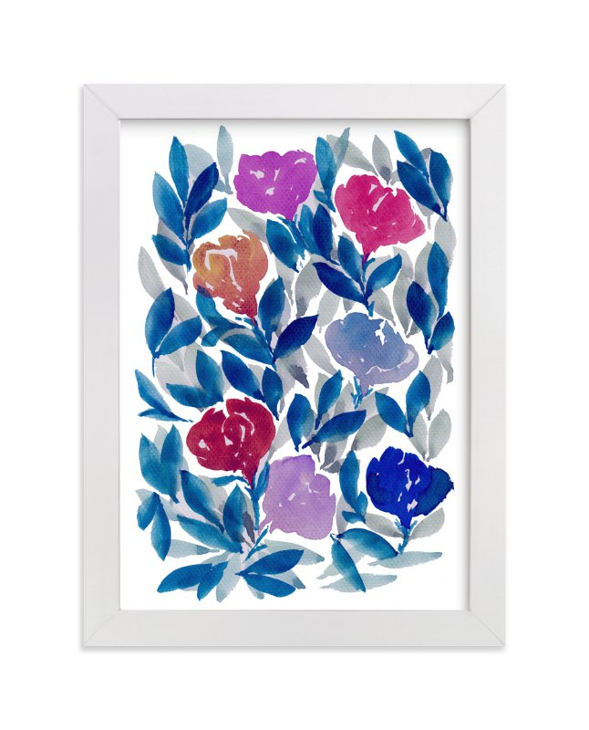 """""""hand painted flowers_2F"""" - Art Print by aticnomar in beautiful frame options and a variety of sizes."""