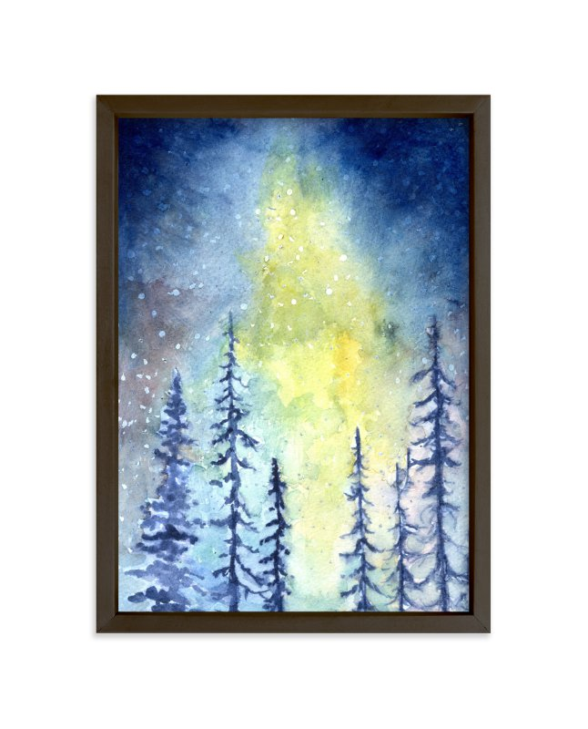 """""""Glorious Aurora"""" - Art Print by Me Amelia in beautiful frame options and a variety of sizes."""