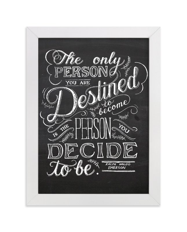 """""""Emerson Quote"""" - Art Print by Amanda Paulson in beautiful frame options and a variety of sizes."""