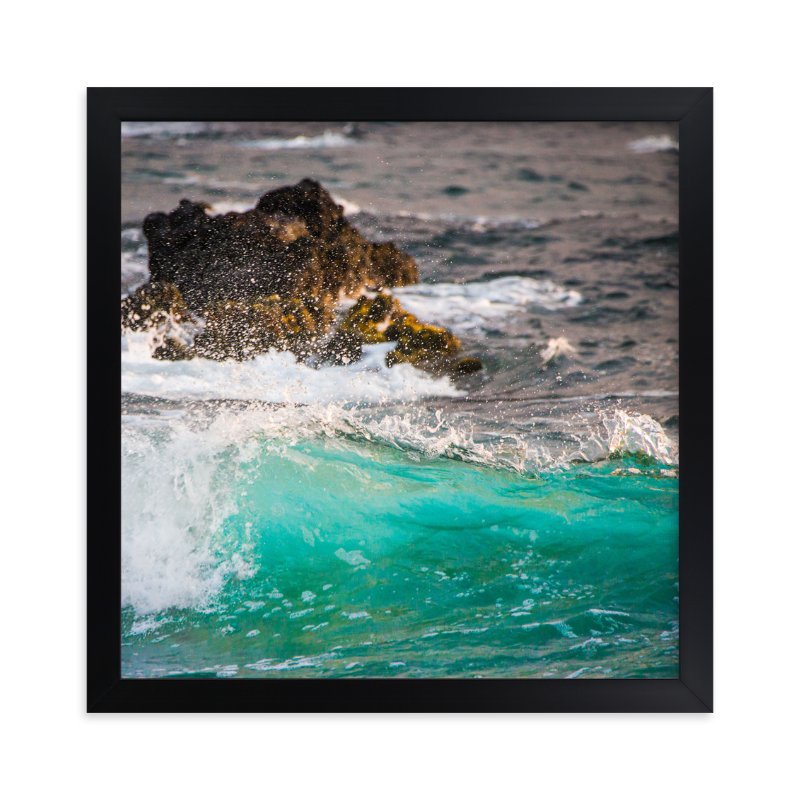"""""""Wave Crashing on Lava Rocks"""" - Art Print by Mary Ann Glynn-Tusa in beautiful frame options and a variety of sizes."""