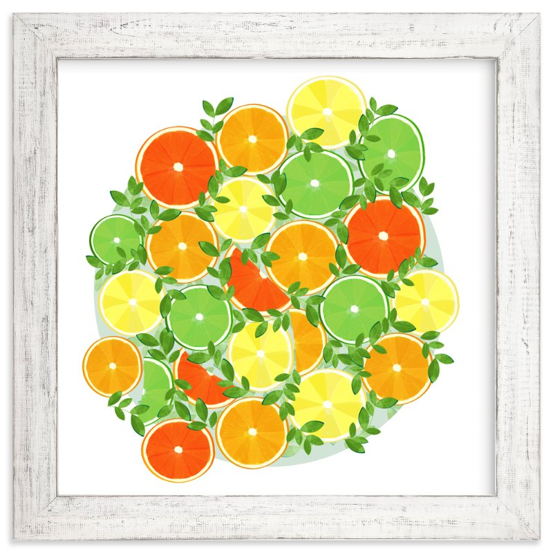 """""""A Slice of Citrus"""" - Art Print by Katie Tandlmayer in beautiful frame options and a variety of sizes."""