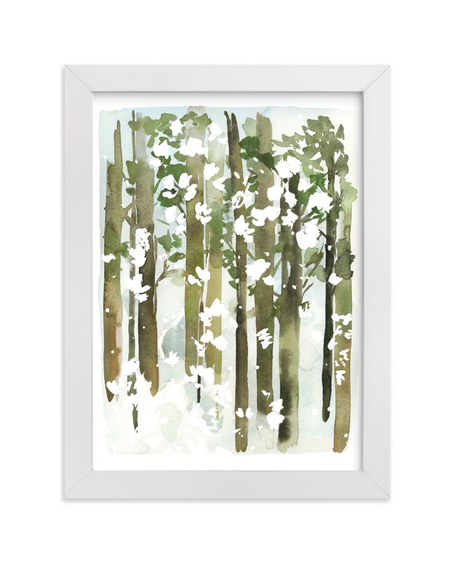 """""""Forest Snow"""" - Art Print by Yao Cheng in beautiful frame options and a variety of sizes."""