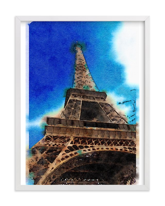 """""""La Tour Eiffel de Paris"""" - Art Print by Teng Wang in beautiful frame options and a variety of sizes."""