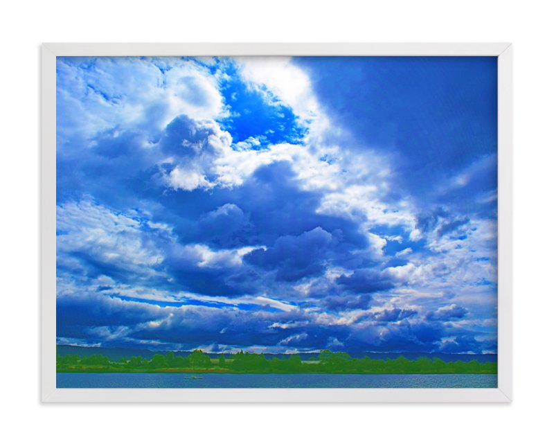 """Stormy clouds"" - Art Print by NSMARK in beautiful frame options and a variety of sizes."