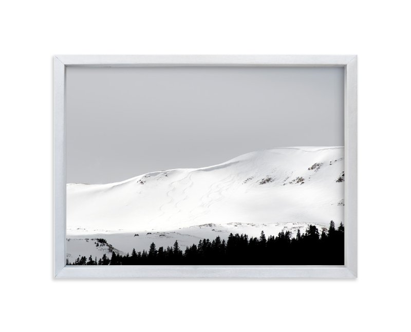 """Fresh Tracks"" - Art Print by Christina Flowers in beautiful frame options and a variety of sizes."