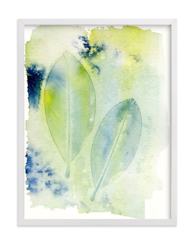 """""""Dancing Leaves"""" - Art Print by Me Amelia in beautiful frame options and a variety of sizes."""