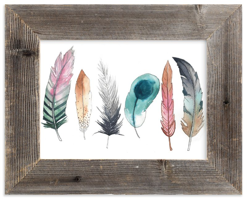 """""""Feather Fun"""" - Art Print by Kelsey McNatt in beautiful frame options and a variety of sizes."""