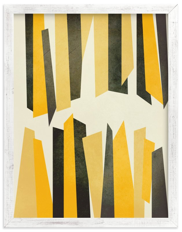 """""""Black and Yellow Stalactites"""" - Art Print by Lucrecia in beautiful frame options and a variety of sizes."""